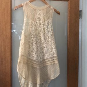 Free people long tank top
